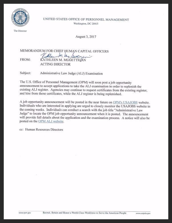 CHCO Memo (ALJ Examination) (003) 2